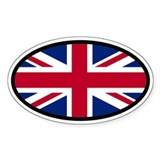 Union Jack Oval Decal