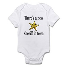 There's a New Sheriff in Town Funny Baby Bodysuit