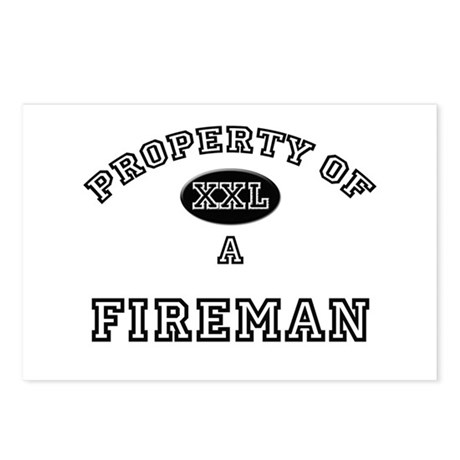 Property of a Fireman Postcards (Package of 8)