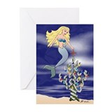 Mermaid Star Christmas Greeting Cards (Pk of 10)