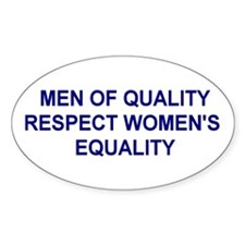"""Men of Quality"" Oval Decal"