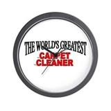 """The World's Greatest Carpet Cleaner"" Wall Clock"