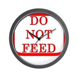 DO NOT FEED Wall Clock