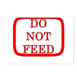 DO NOT FEED Postcards (Package of 8)