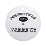 Property of a Farrier Ornament (Round)