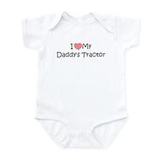 Love My Daddys Tractor Infant Bodysuit