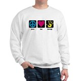 Peace, Love, Massage Sweatshirt