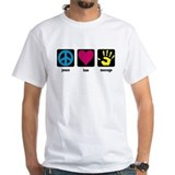 Peace, Love, Massage Shirt