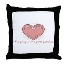 Great Grandma 2 Be Throw Pillow