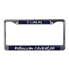 Funky Love Moluccan Cockatoo License Plate Frame