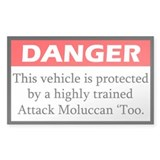 Danger Attack Moluccan Cockatoo Decal