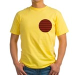 Red Pattern 997 Yellow T-Shirt