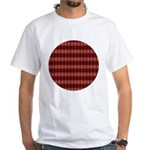 Red Pattern 997 White T-Shirt