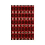 Red Pattern 997 Rectangle Magnet