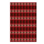 Red Pattern 997 Postcards (Package of 8)