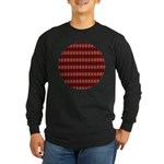 Red Pattern 997 Long Sleeve Dark T-Shirt