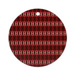 Red Pattern 997 Ornament (Round)