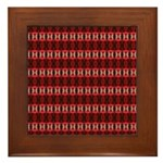 Red Pattern 997 Framed Tile