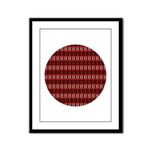 Red Pattern 997 Framed Panel Print