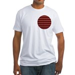 Red Pattern 997 Fitted T-Shirt