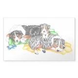 Aussie Family Nap Rectangle Decal