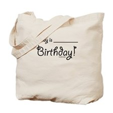 Write On Birthday Autograph Tote Bag