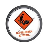 BUFFALONIAN at WORK Wall Clock