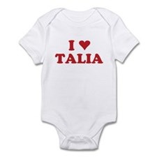 I LOVE TALIA Infant Bodysuit