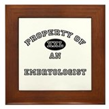 Property of an Embryologist Framed Tile