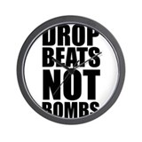 Drop Beats, Not Bombs 2 Wall Clock