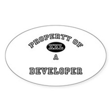 Property of a Developer Oval Decal