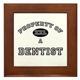 Property of a Dentist Framed Tile