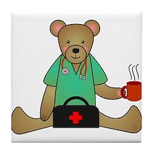 Teddy Bear Medical Tile Coaster