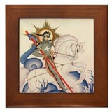 St. George Framed Tile