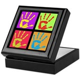 Pop Art Hands Keepsake Box