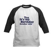 October 10th Birthday Tee