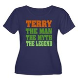 TERRY - the legend Women's Plus Size Scoop Neck Da