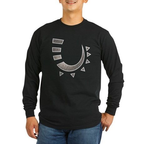 Tribal Hook Long Sleeve Dark T-Shirt