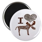"I love Moose / I Heart Moose 2.25"" Magnet (10 pack"