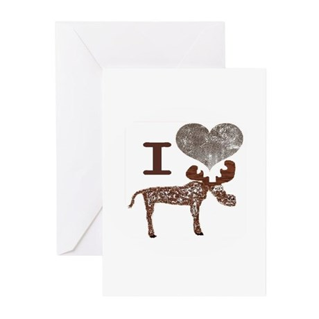 I heart Moose Greeting Cards (Pk of 10)