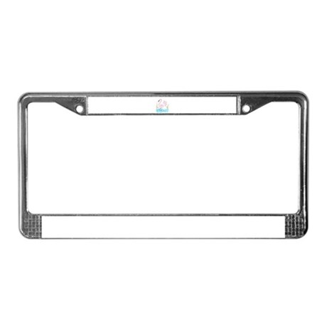 Pink Flamingo 13 License Plate Frame