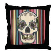 Dia de los Muertos Sugar Skull #1 Throw Pillow