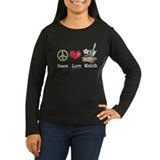 Peace Love Mulch Gardening Women's Long Sleeve Tee