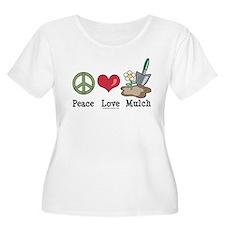 Peace Love Mulch Gardening Plus Size Scoop T-shirt