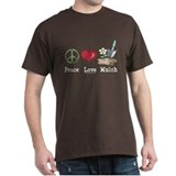 Peace Love Mulch Gardening Brown T-Shirt