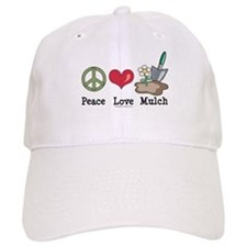 Peace Love Mulch Gardening Baseball Cap