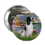 Monet's Lilies & English Spri Button