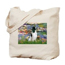 Monet's Lilies & English Spri Tote Bag