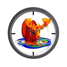 Moose Grazing Wall Clock