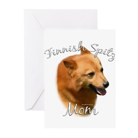 Spitz Mom2 Greeting Cards (Pk of 20)